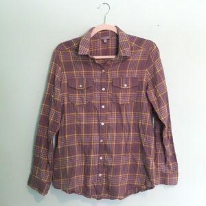 Rubbish Flannel Button-down Top